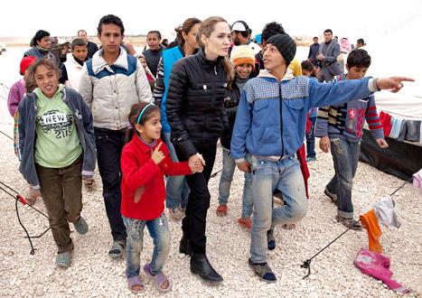 NEW PICTURES: Angelina Jolie Meets With Refugee Children in Jordan