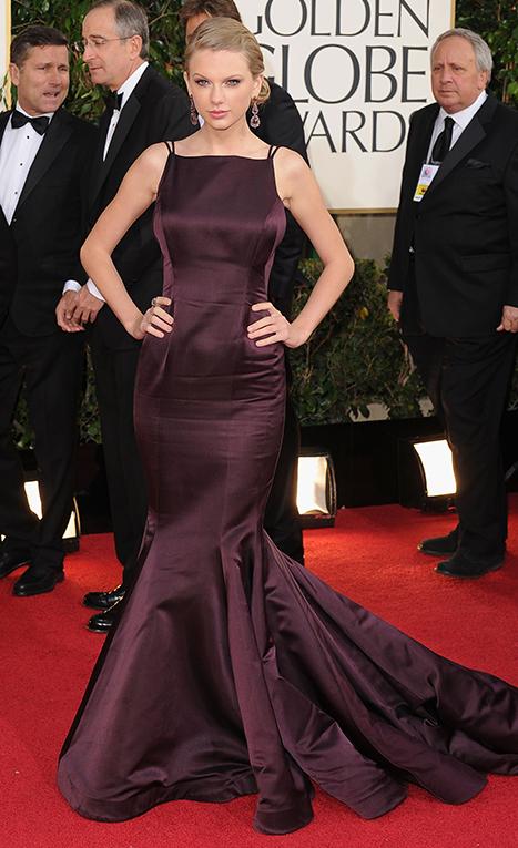 Taylor Swift Wears Sexy, Low Back Donna Karan Atelier Dress to Golden Globes
