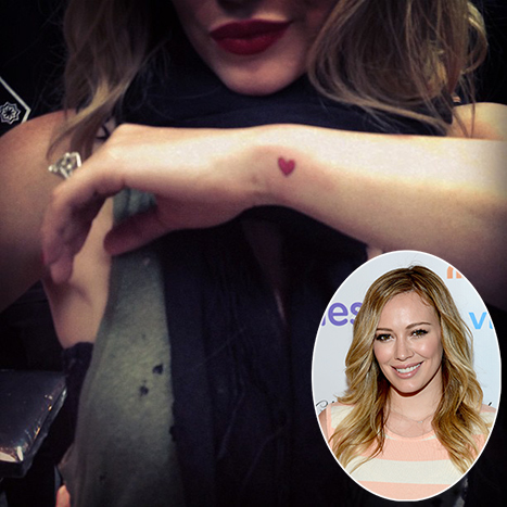 "Hilary Duff Shows Off Tiny Heart Tattoo: ""All Is Full of Love"""