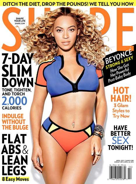 Beyonce Shows Off Slim, Toned Bikini Body on Shape Magazine Cover, Talks 57 Pound Weight Gain During Pregnancy