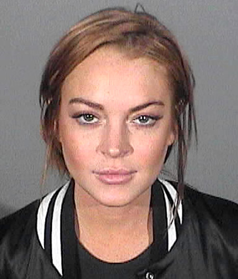 Lindsay Lohan's Sixth Mug Shot: Star Wears Full Makeup as She's Booked on Charges