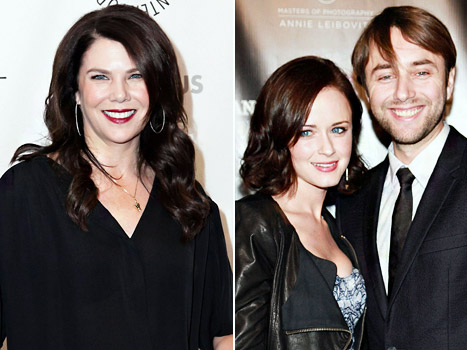 "Lauren Graham on Alexis Bledel's Engagement to Vincent Kartheiser: I'm ""Very Happy for Them"""