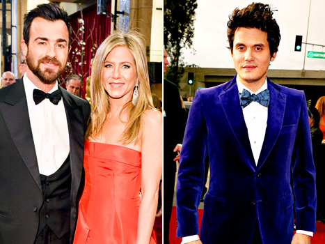 Jennifer Aniston, Fiance Justin Theroux Dine Next to Her Ex-Boyfriend John Mayer