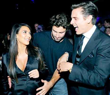 Brody Jenner Rubs Step-Sister Kim Kardashian's Baby Bump