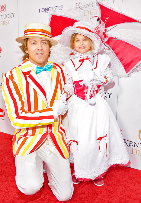 Anna Nicole Smith's Daughter Dannielynn, Dad Larry Birkhead Dress in Mary Poppins Costumes for Kentucky Derby