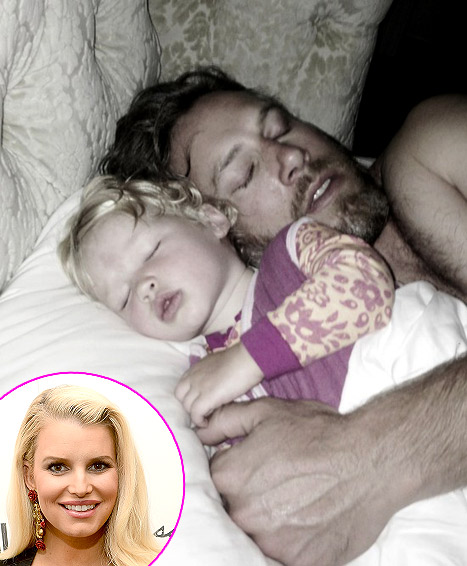 Jessica Simpson's Daughter Maxwell Snuggles With Dad Eric Johnson in Adorable Pic