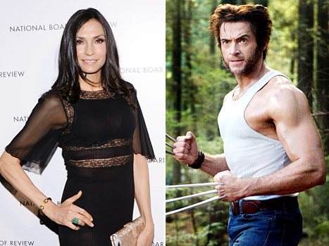 Famke Janssen: Hugh Jackman Worked Out Between Takes During Wolverine Filming
