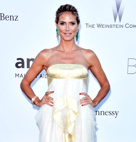 Heidi Klum Flashes Butt, Shows Off Cornrow Hair