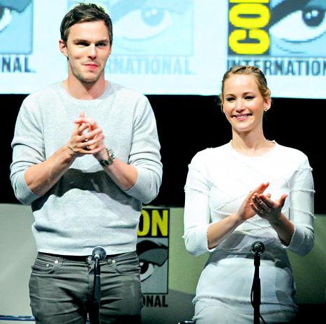 Jennifer Lawrence, Nicholas Hoult Reunite at Comic-Con for X-Men Junket