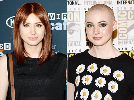 Karen Gillan Removes Wig, Reveals Bald Head at Comic-Con