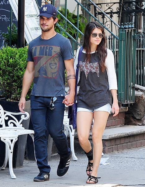Taylor Lautner, Girlfriend Marie Avgeropoulos Go Public and Hold Hands