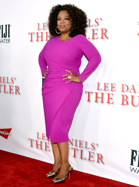 Oprah Winfrey Wears Tight Hot Pink Dress at Premiere, Apologizes for Switzerland Racism Scandal