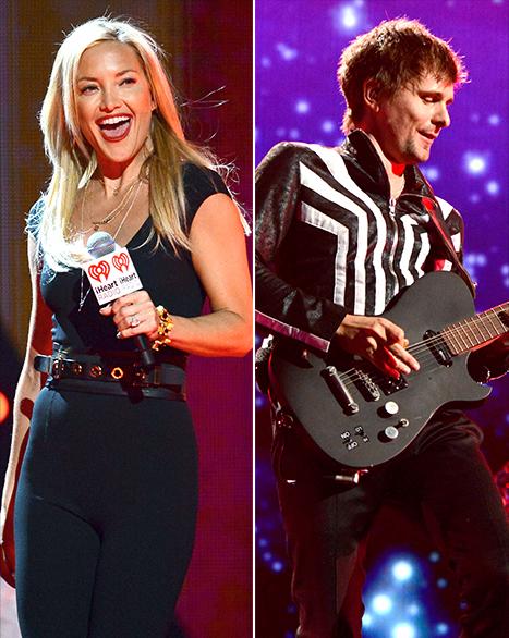 "Kate Hudson, Matthew Bellamy Watch Elton John Sing ""Tiny Dancer"" at iHeart Radio Music Festival"
