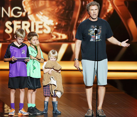 "Will Ferrell Brings His Three Sons Onstage at the Emmys: ""I Couldn't Find Child Care"""