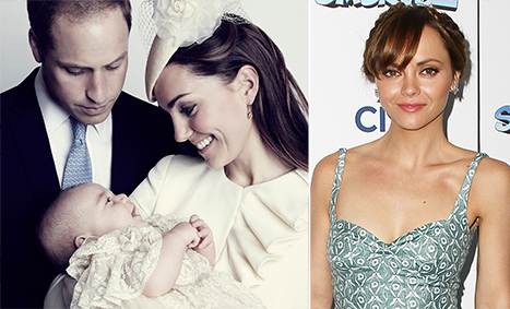 Kate Middleton, Prince William Fawn Over Prince George In New Christening Photo, Christina Ricci Marries Fiance James Heerdegen: Top 5 Weekend Stories