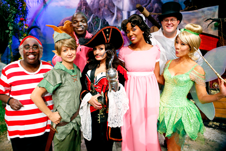 Sharon Osbourne, Julie Chen, Sara Gilbert, Aisha Tyler, Sheryl Underwood Rock Peter Pan Halloween Costumes on The Talk: Picture