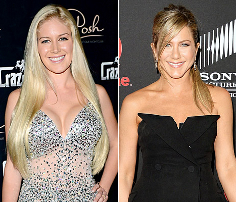 "Heidi Montag Removes F-Cup Implants; Jennifer Aniston's Says Hairstylist ""Chopped all My Hair Off"": Today's Top Stories"