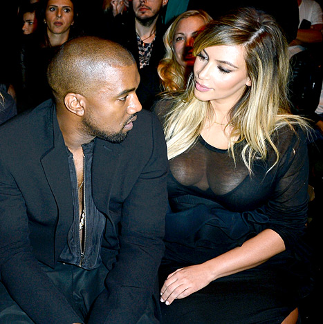 """Kanye West Says Kim Kardashian Is """"the Most Beautiful Woman of All Time,"""" She Calls Him """"the Most Amazing Dad Ever"""""""