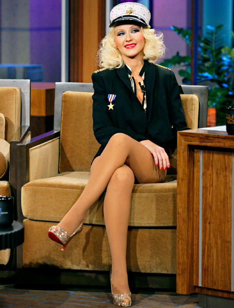 "Christina Aguilera Goes Without Pants, Talks 5-Year-Old Son Max's Ability to ""Outsmart"" Her on The Tonight Show With Jay Leno"
