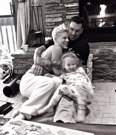 Pink Shares Sweet New Year's Eve Family Photo Of Husband Carey Hart, Daughter Willow