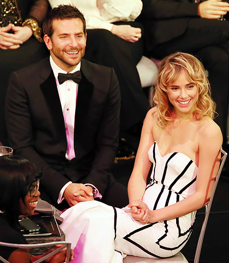 Bradley Cooper, Girlfriend Suki Waterhouse Make Awards Show Debut at 2014 SAG Awards