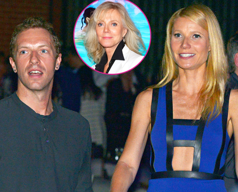 "Gwyneth Paltrow's Mom Blythe Danner ""Upset"" About Chris Martin Split: ""She Loves Chris"""