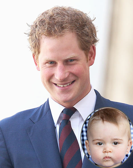 "Prince Harry Says Nephew Prince George ""Looks Like Winston Churchill"""