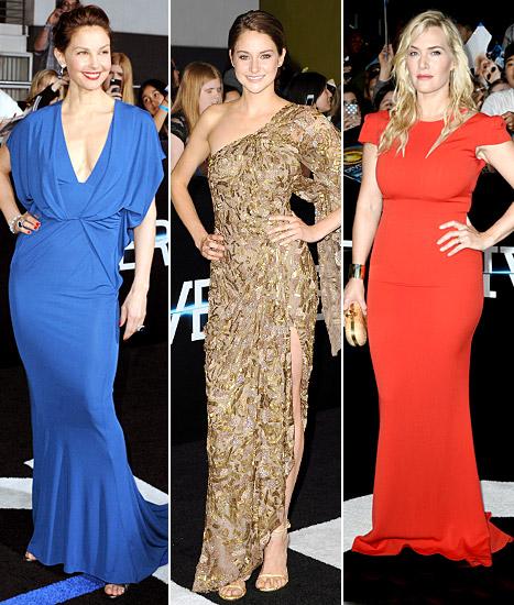 Maggie Q Goes Without Underwear in Little Black Dress at Divergent Premiere