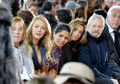 Blake Lively Flashes Some Leg at Michael Kors Fashion Week Show
