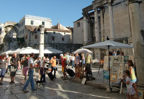 Split, Croatia, Offers Great Shopping in the Heart of the Sightseeing District