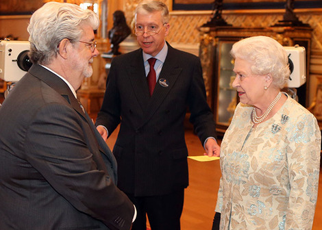 George Lucas praises British film industry at Windsor Castle event