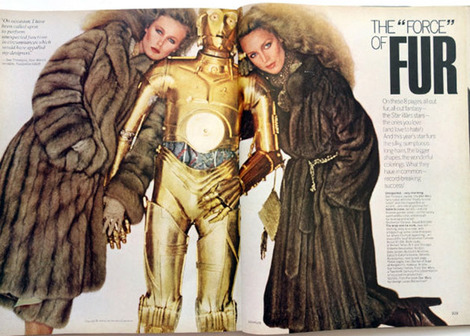 C-3PO and Darth Vader modelled for fur obviously