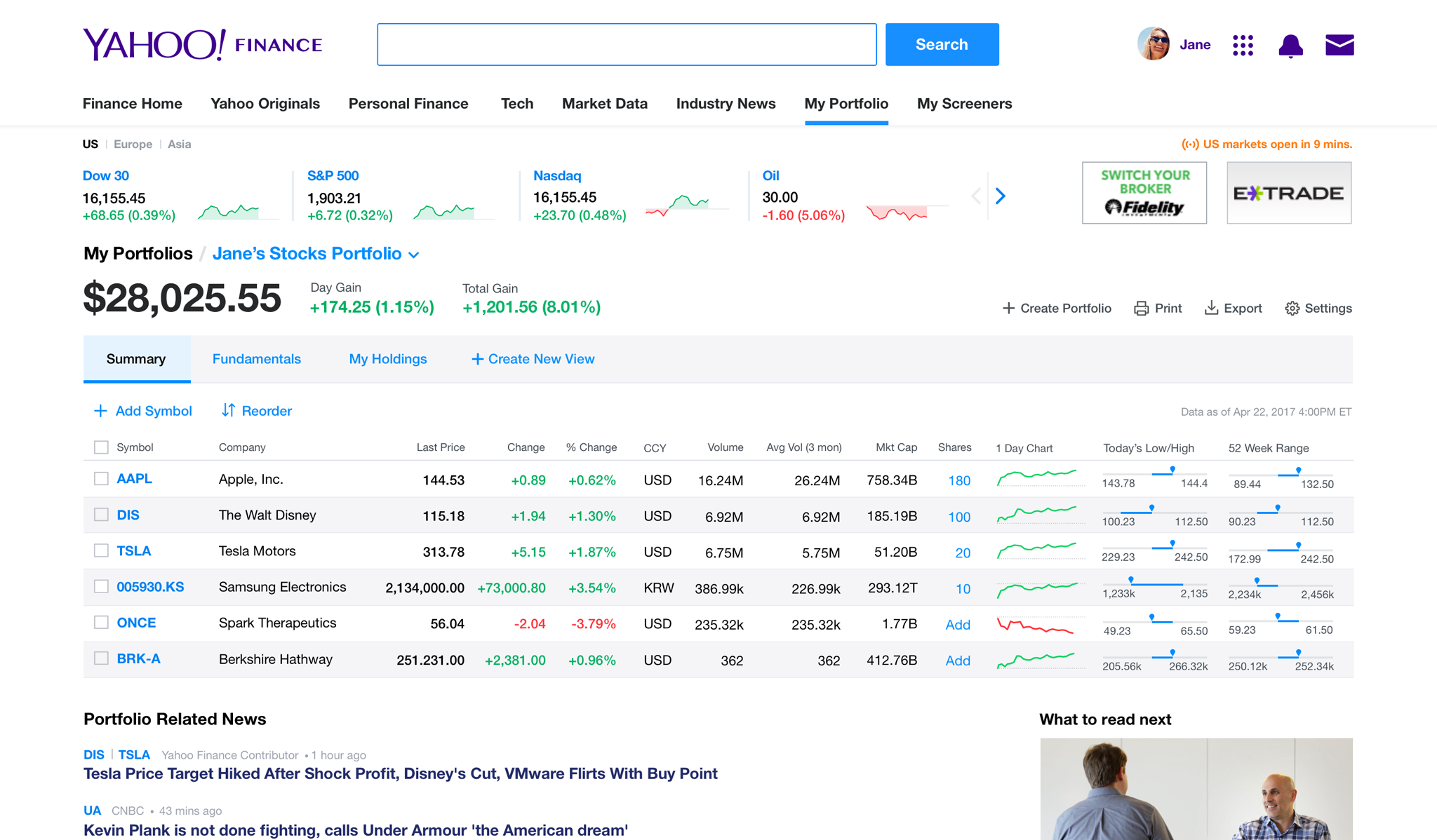 Yahoo Stock Quotes Prepossessing Yahoo Finance  Business Finance Stock Market Quotes News