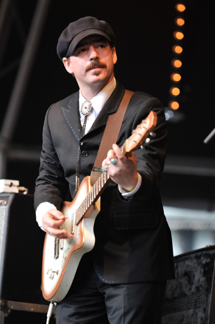 Jason Molina of Magnolia Electric Co. performs in Dorset, United Kingdom.