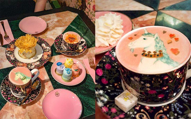 曼谷小眾下午茶打卡點!復古獨角獸少女風拍照拍到手軟