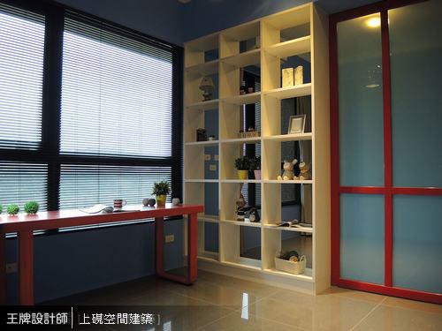 書房與客房以穿透式規劃。