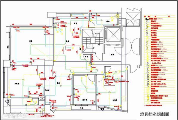 ▲燈具插座規劃圖