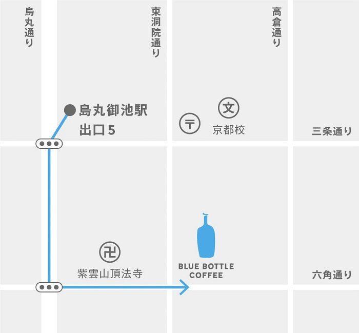 藍瓶咖啡六角快閃店 地圖