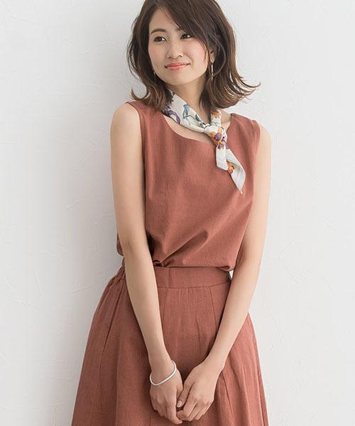 Pierrot橘色調套裝