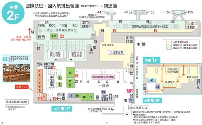 成田機場第三航廈2樓樓層簡介