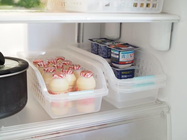 DAISO 可疊式冰箱分區整理盒(窄版) 存放小包裝食品