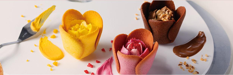 花朵甜點三個口味