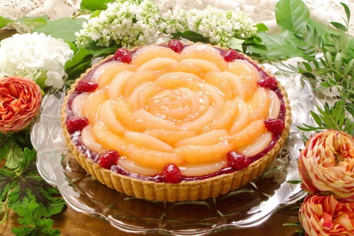 蜜桃葡萄柚塔