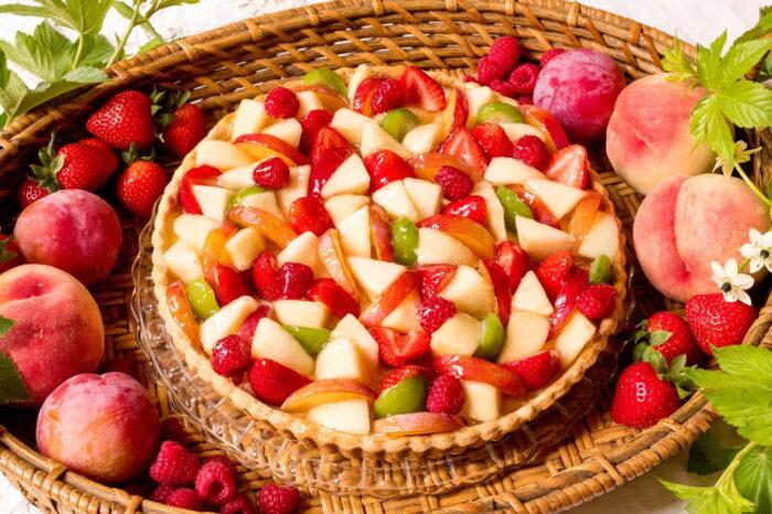 蜜桃與夏季水果塔