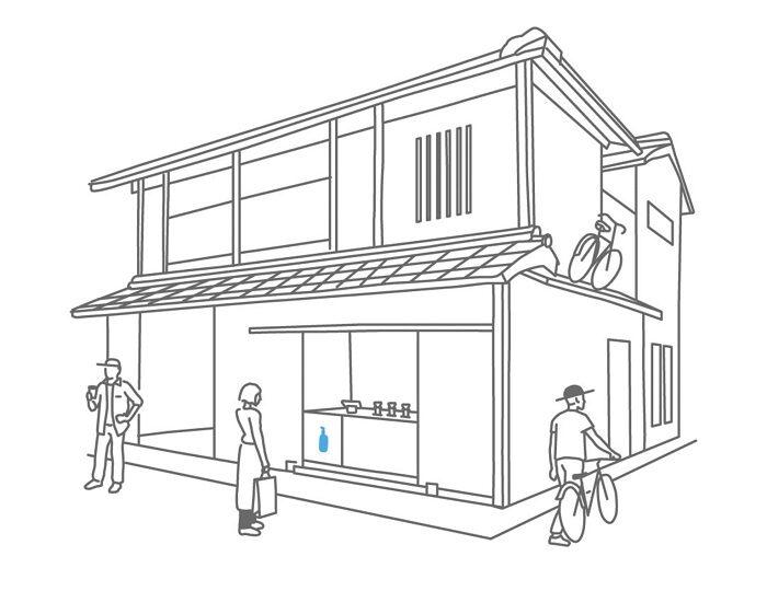 藍瓶咖啡六角快閃店 概念圖