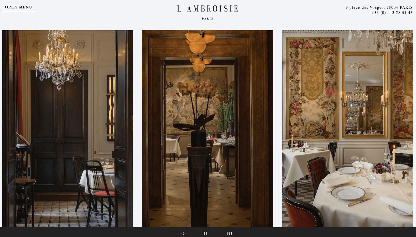 法國巴黎餐廳—L'AMBROSIE 內部 photo by L'AMBROSIE