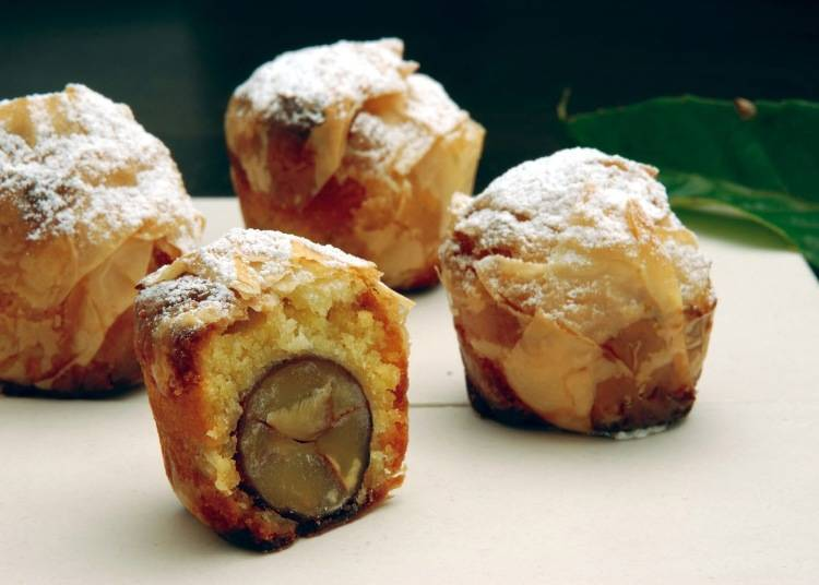 烤栗子蛋糕(焼モンブラン)(1個330日圓、含税)