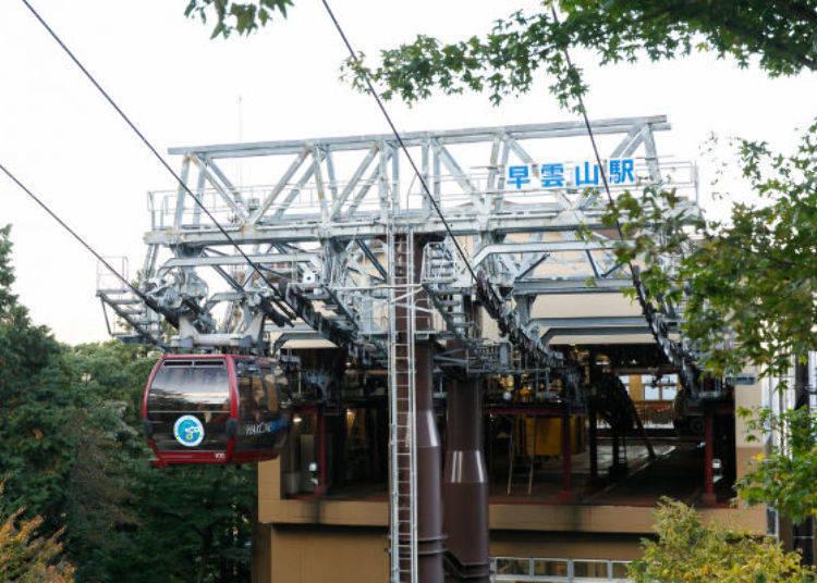▲纜車抵達終點早雲山站