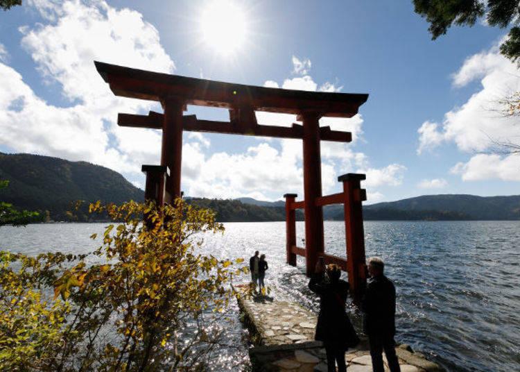 ▲蘆之湖「平和鳥居」超推的拍照景點