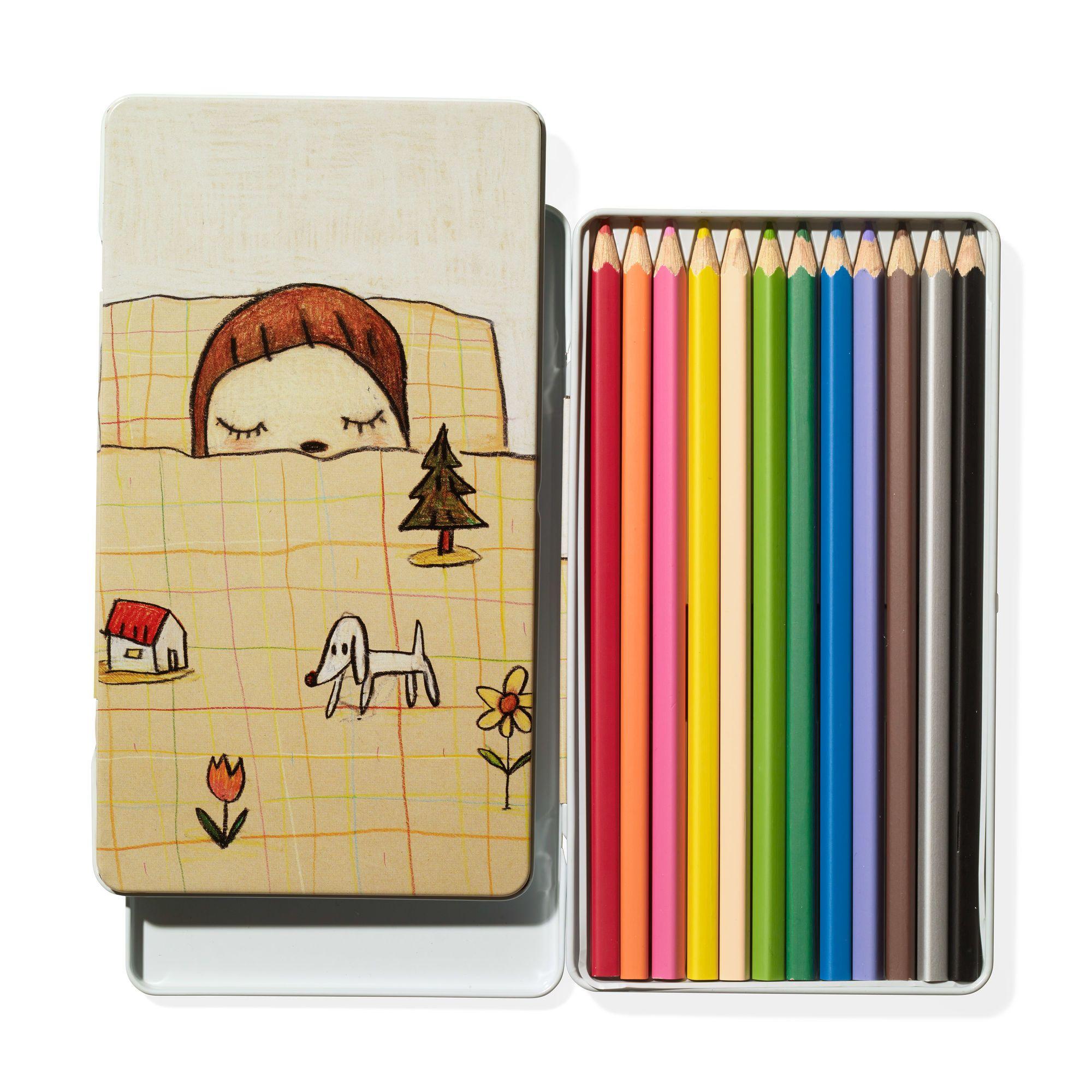 奈良美智MOMA 色鉛筆文具